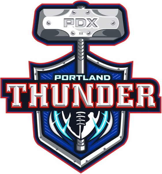 Portland Thunder 2014-Pres Primary Logo t shirt iron on transfers