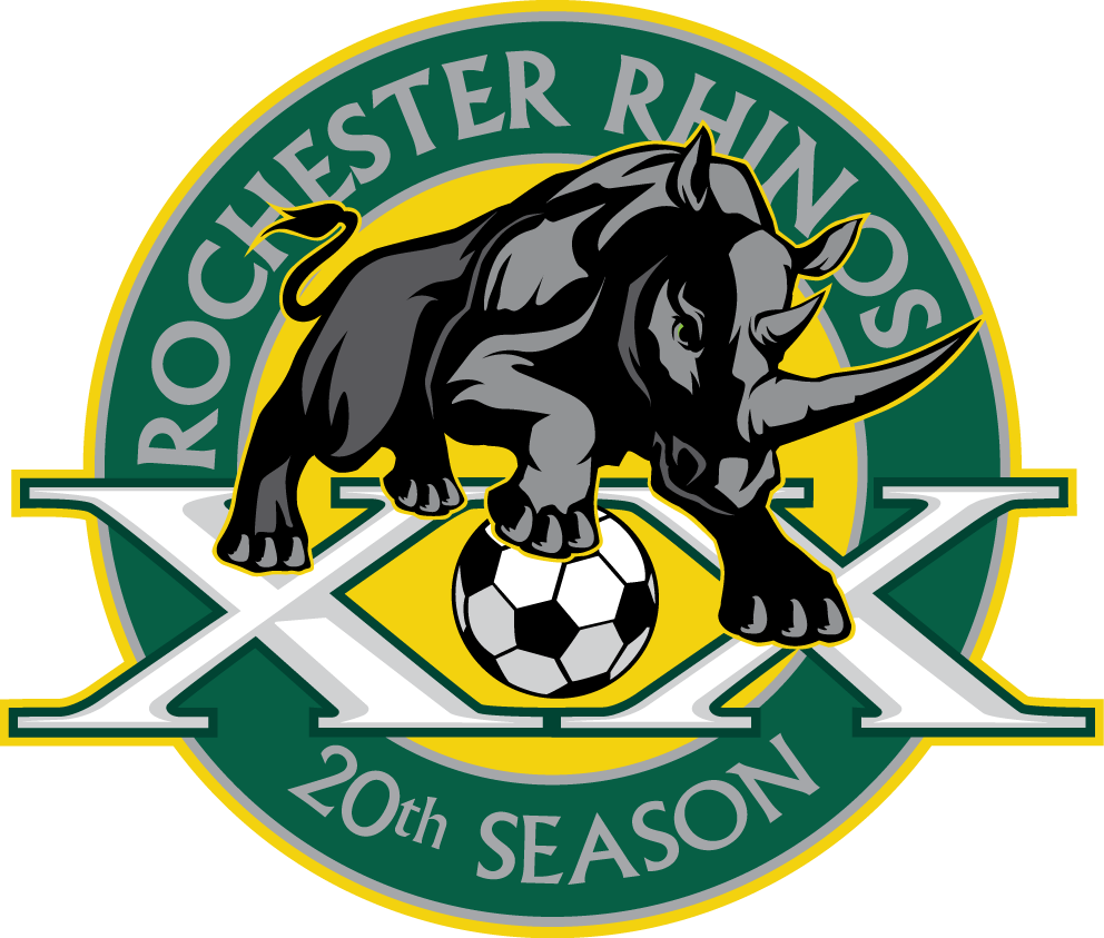 Rochester Rhinos 2015 Anniversary Logo t shirt iron on transfers